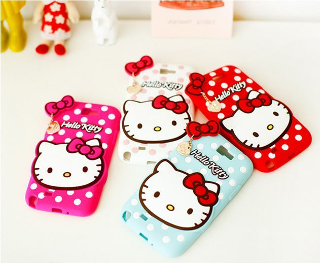Hello Kitty Heart Silicone Mobile Case for Galaxy Note 3