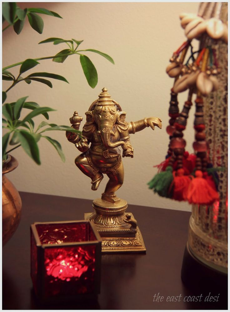 Antique Brass Ganesha, Indian decor