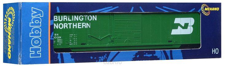 Mehano Крытый вагон Burlington NorthernT081Крытый вагон (вагон с глухим кузовом) Burlington Northern выполнен на высочайшем уровне с мелкими деталями и в точной раскраске железной дороги определенного периода времени. Корпус модели крытого вагона выполнен из пластика, колеса выполнены из металла. Модель высоко детализирована и окрашена в соответствии со своим реальным прототипом. Вагон имеет два пластиковых крепления, благодаря которым вы сможете соединить вагончики в железнодорожный состав…