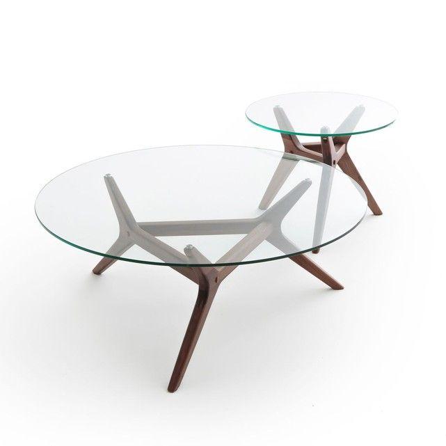 Table Basse Noyer O90 Cm Maricielo Noyer Am Pm La Redoute Table Basse Table Basse Ampm Centre De Table