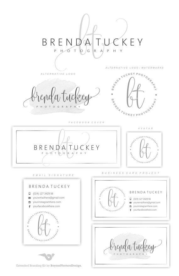 Premade Branding Kit fotografia Logo Set di BVLogoDesign su Etsy