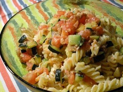 ズッキーニとトマトのイタリア夏パスタ