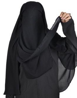 Niqab zweilagig islamische-Gesichtsschleier