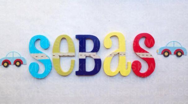 LETRAS PARA DECORAR EL CUARTO DE LOS PEQUES! ideal para regalar a un recién nacido también!! Busca KIWI KISSES en Facebook, diseños totalmente personalizados! wooden letters /nursery decor/