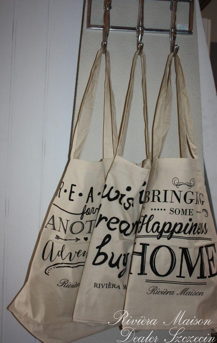 Bawełniana shopperka od Rivièry Maison! ! 3 wzory - każdy za 45 zł😉