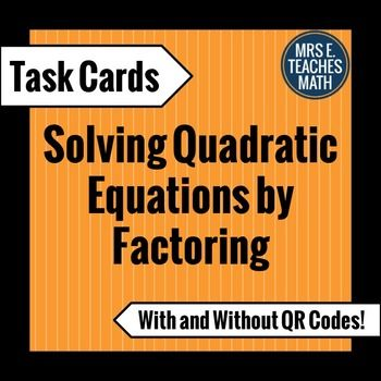 10 best algebra 2 entree project images on pinterest algebra 2 solving quadratic equations by factoring task cards fandeluxe Image collections