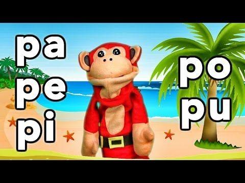 Sílabas pa pe pi po pu - El Mono Sílabo - Videos Infantiles - Educación para Niños # - YouTube