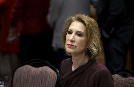 Carly Fiorina, Republican presidential candidate, looks on at the Southern Republican Leadership Conference in Oklahoma City, Oklahoma May 23, 2015.  REUTERS/Rick Wilking - RTX1E82L