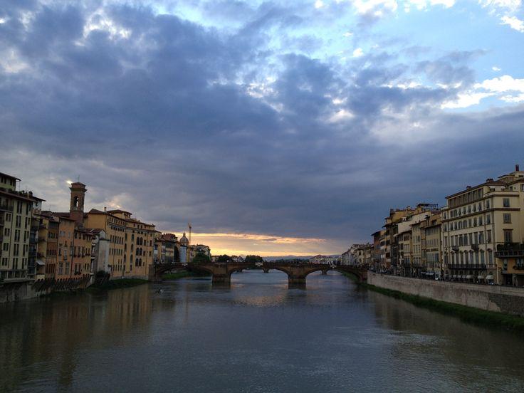 Puente Vecchio en Florencia, italia