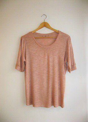 Kup mój przedmiot na #vintedpl http://www.vinted.pl/damska-odziez/koszulki-z-krotkim-rekawem-t-shirty/17389122-jasna-pudrowa-hm-koszulka-z-rekawem-oversize