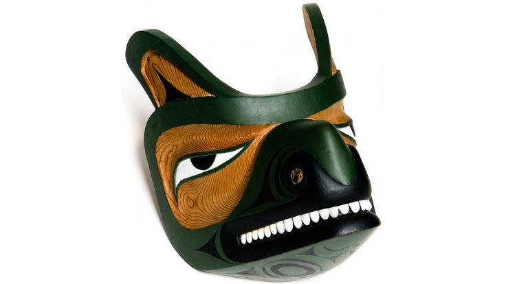 Wolf Mask by Leslie Wells (Semiahmoo, Coast Salish).