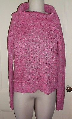 Womens American Eagle Outfitters Cowl Neck Mottled Heather Cable Knit Sweater M #americaneagleoutfitters