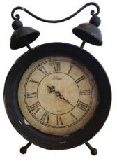 UH75025 Black Vintage Clock 33cm