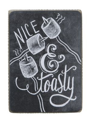 Nice and toasty chalkboard