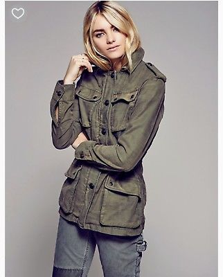 NWT Free People Sz M Not Your Brother's Surplus Moss Green Army Jacket $148