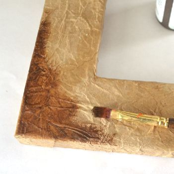 Make fake leather out of paper bags and Mod Podge!