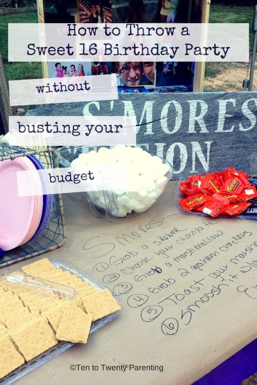 From food to decoration - how to throw a Sweet 16 birthday party on a budget!