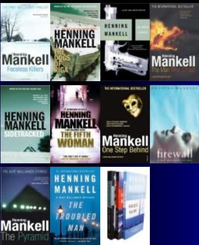 Author: Henning Mankell / Kurt Wallander Series
