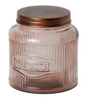 THIS is where I would store my secret supply of biscuits... SO02 Vintage Biscuits Jar Pink 22x17cm