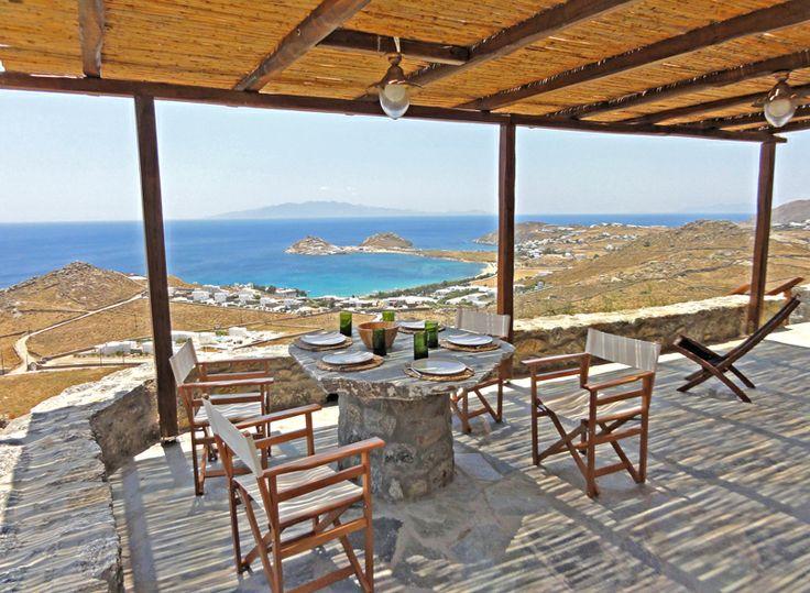 Villa irida outside sitting/dining area