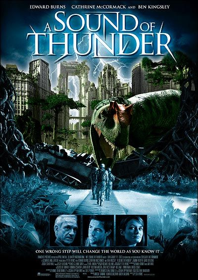sound of thunder describing dinosaur A sound of thunder its called the sound of thunder because of the sound that the gunshot made when they killed how would you describe the sound of thunder.
