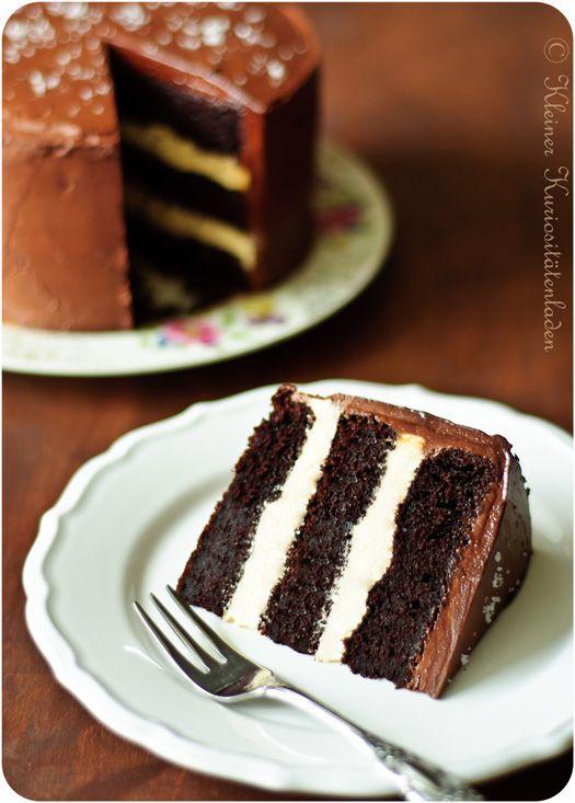 Schoko-Karamell-Torte mit Fleur de Sel