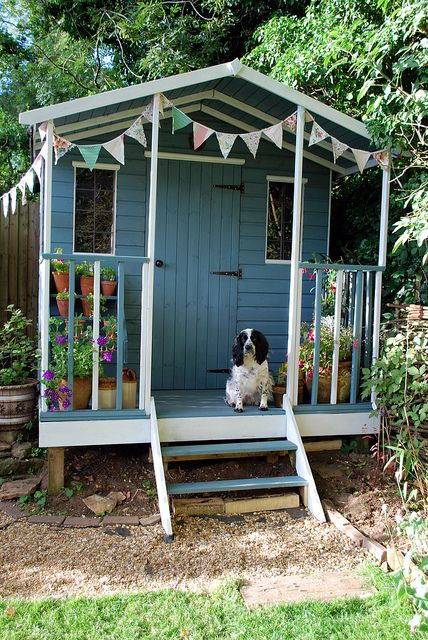 The perfect summerhouse straight from the pages of Country Living! With a bit of help from a couple of cans of paint...