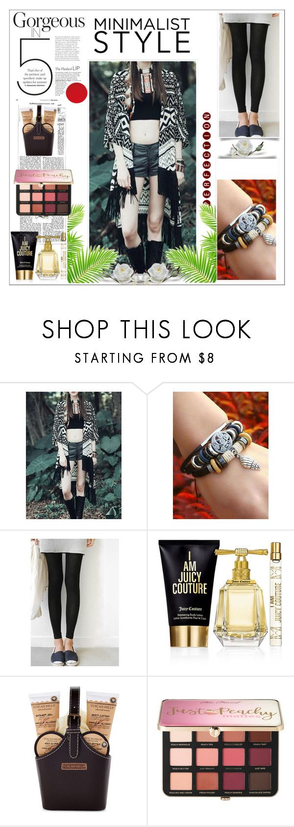 """""""http://www.oshoplive.com 1 / 20"""" by ozil1982 ❤ liked on Polyvore featuring Juicy Couture, Tuscan Hills and Sephora Collection"""