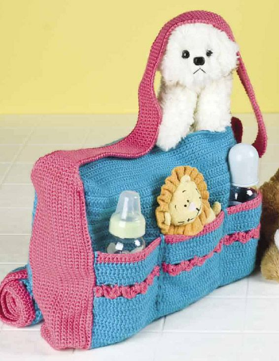 Baby+Crochet+Bag+Patterns | Diaper Bag and Accessories