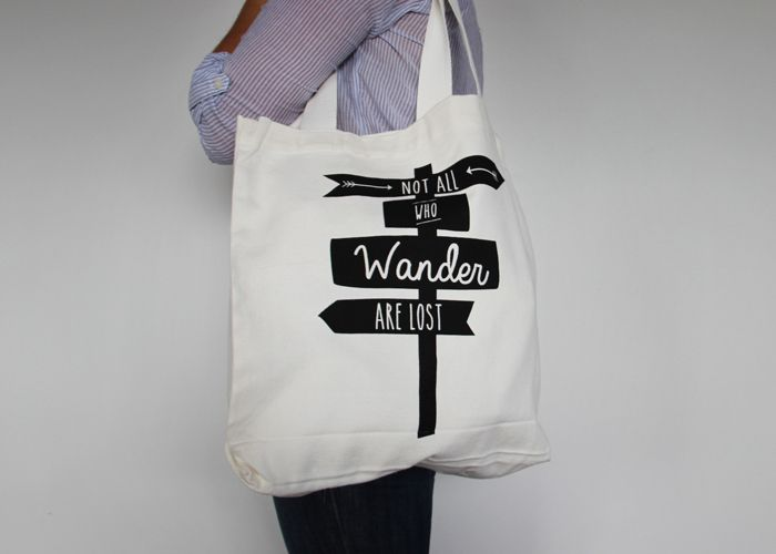 Not all who wander are lost tote // Toodles Noodles