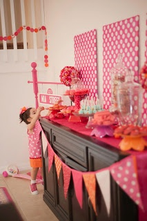 My Daughter S Girlie Elmo Birthday Party Polka Dot Pink