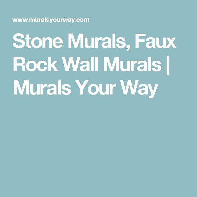 Stone Murals, Faux Rock Wall Murals | Murals Your Way