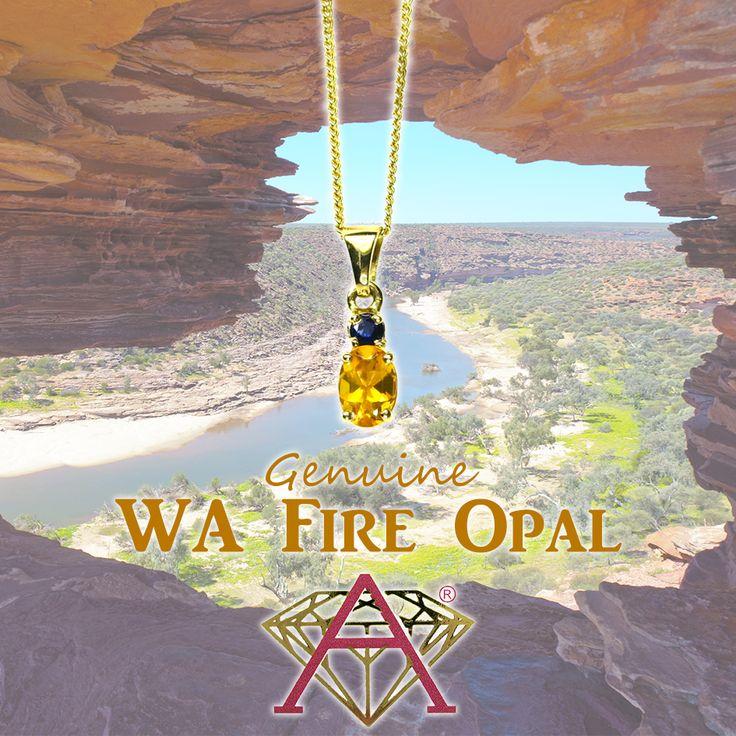 Western Australian Fire Opal & Australian Sapphire.