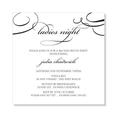 Hen's Night Invite