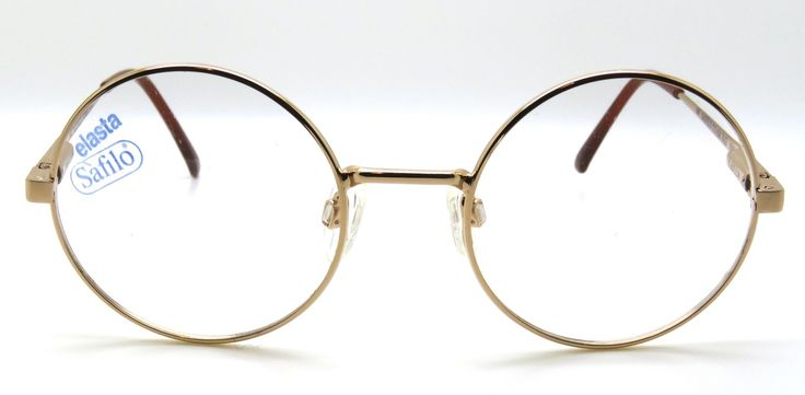 Vintage gold true round glasses (http://www.theoldglassesshop.co.uk/safilo-rose-gold-true-round-48mm-prescription-glasses-frames/)