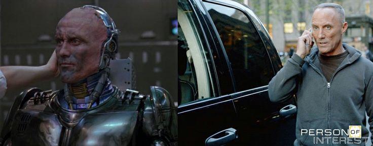 Robert John Burke as Alex Murphy (Robocop III.) and Officer Patrick Simmons (Person of Interest)