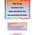 This 5th Grade CCSS ELA Documenting Checklist will help you keep your documentation for you administration, parents, and yourself right at your fin...