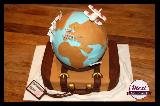 World globe travel cake