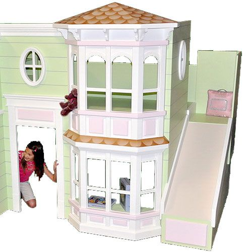 Abigail Victorian Bunk Bed Playhouse