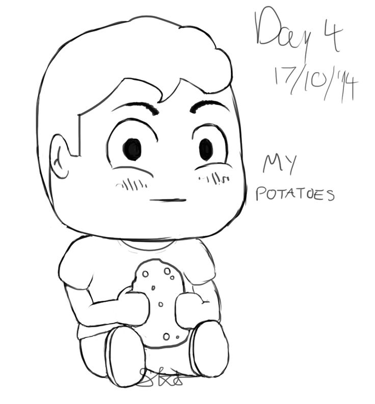 I need to improve my drawing ability so I'm challenging myself to draw every day for 30 days. Here's day 4. It's my weird ass potato friend lol