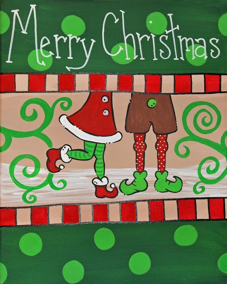 Santa's Helpers Christmas Canvas -