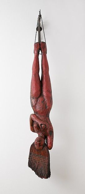 red - woman - Sweeping Beauty - sculpture - Alison Saar