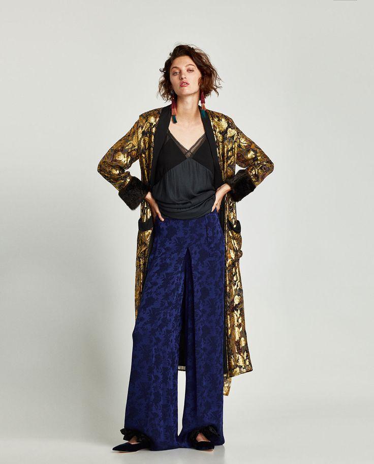 I'm now totally convinced that a full-length metallic kimono is a wardrobe basic.