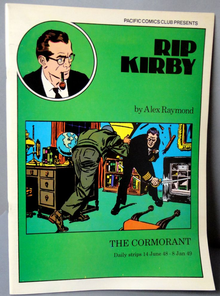 RIP KIRBY 8-9 The Cormorant Alex Raymond large size B & W reprints June 14,1948 - January 8, 1949 Pacific Club 1980 Limited Edition