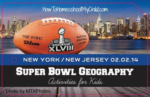 Football, Super Bowl & Geography – Super Bowl Activities for kids from HowToHomeschoolMyChild.com