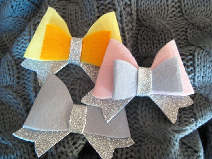 girl hair clip toddler accessory felt bow clip, silver grey, silver pink  bow, silver yellow bow, baby shower, birthday gift fashion  pin by BrillianceDecor on Etsy