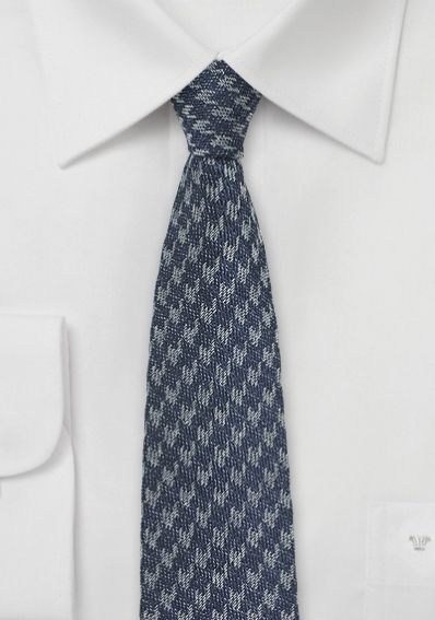 Krawatte Seide Woll-Look anthrazit