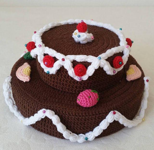 elişi, handmade, örgü pasta, crochet cake, crochet pie, crochet fruits, örgü meyve,