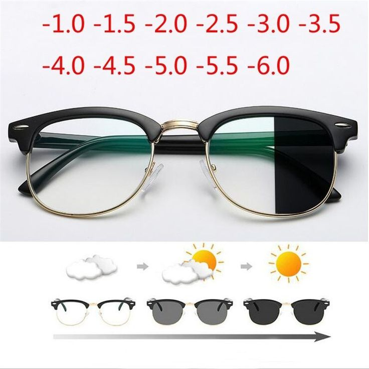 Anti Blue Light Photochromic Finished Myopia Glasses
