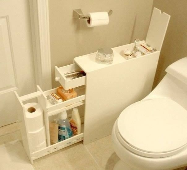 Bom armário de organização de WC